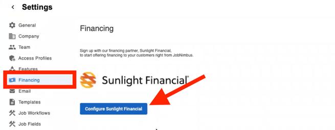 Sunlight Financial - Financing - Configure