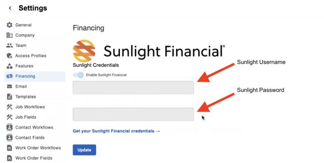 Sunlight Financial - Financing - Credentials