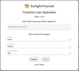 Sunlight Financial - Requesting finance Project details