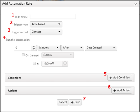 Automation Add Rule Window Time based