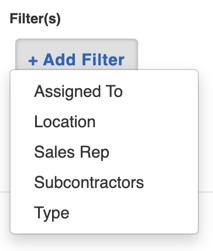 board filter menu