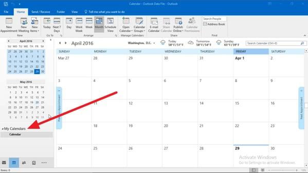 Calendar Subscription Outlook Sync1