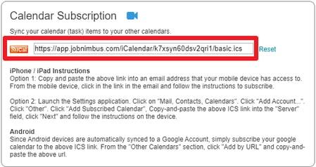 Calendar Subscription Sync
