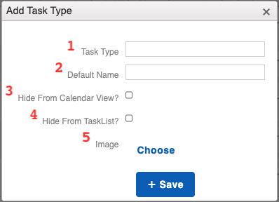 Calendar - Task Type Add