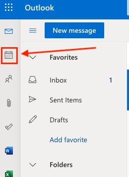 UPDATED outlook calendar icon