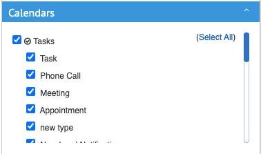 v2 calendar menu tasks