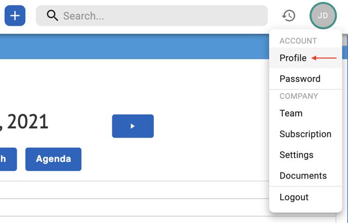 v2 dropdown menu point to profile