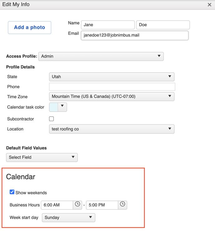 v2 profile calendar hours