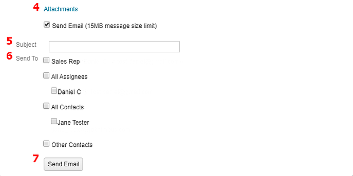 Communication Add Email Bottom
