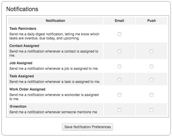 Communication My Info Notification Preferences