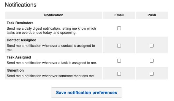 Communication - My Info Notifications