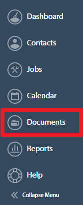 Company Documents Dashboard Menu