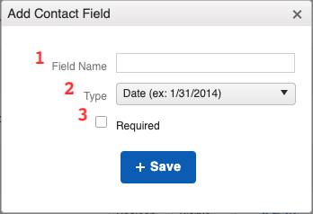 Contacts - Contact Field New