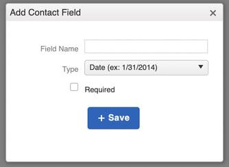 contact custom field