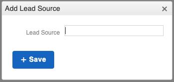 Lead Source - Adding new