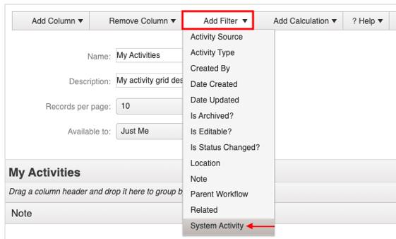 add filter dropdown menu