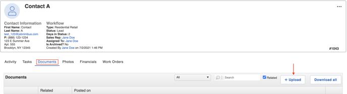 v2 documents tab point to upload
