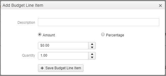 Financials Budget Builder Add Budget Line Item