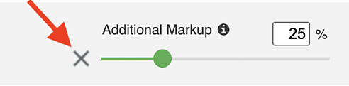 Financial - Markup Slider X Out