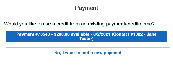add payment to existing invoice