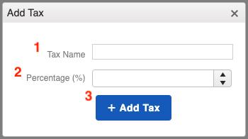 Taxes - Add Tax Window