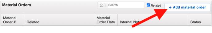 Financials - Add Material Order