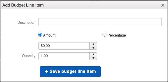 Financials - Budget Line Item