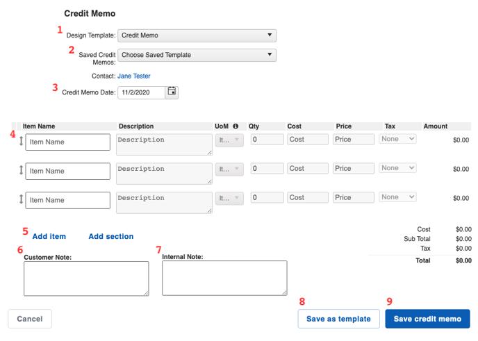 Financials - Credit Memo Builder