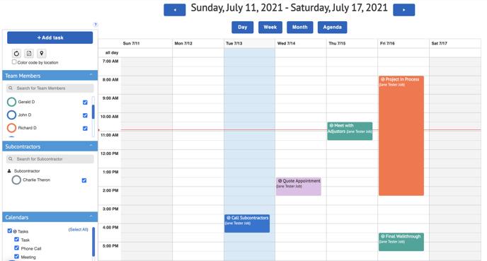 Groups - Calendar view