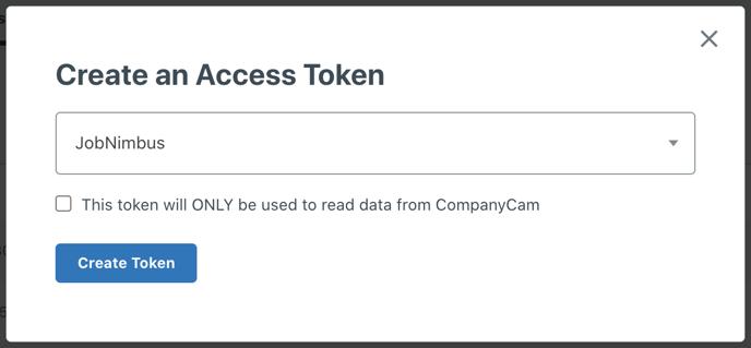 CompanyCam - Create Token