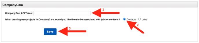 CompanyCam - JobNimbus Post Token