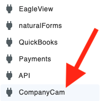 CompanyCam - JobNimbus Settings Menu