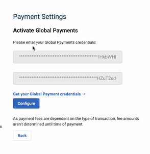 Global Payments - Credentials