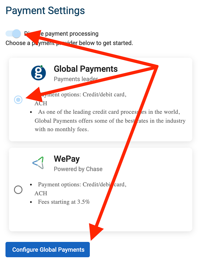 Global Payments - Enable