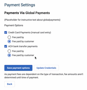 Global Payments - Payment Methods
