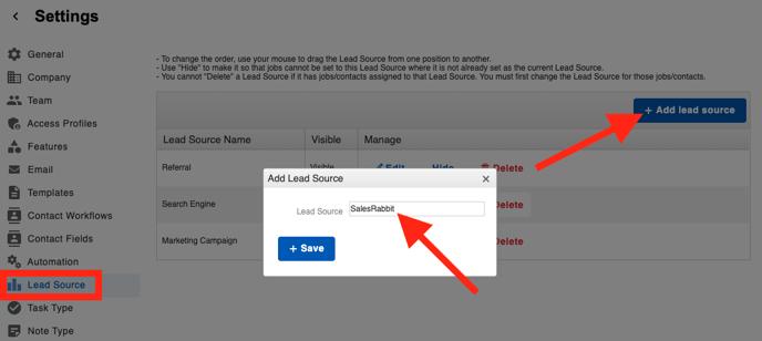 SalesRabbit - Lead Source