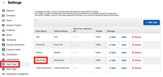 SalesRabbit - Task Type