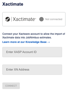 Xactimate - Settings Integration Login