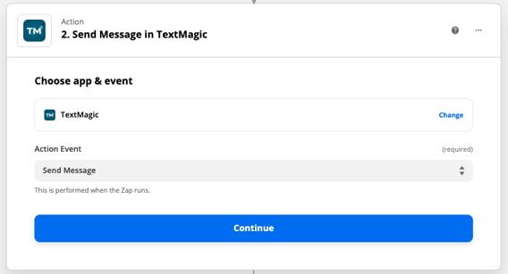 TM action send message
