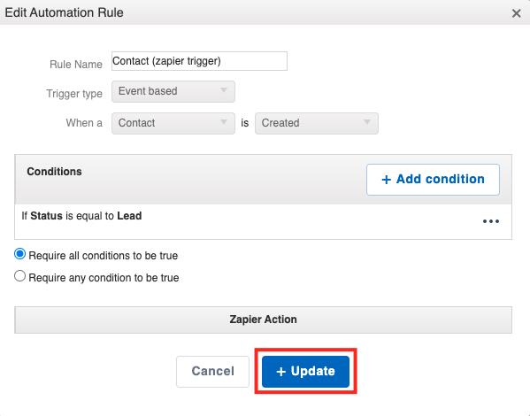 editing zapier automation update