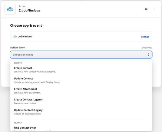 kbase v2 Zapier JN Action updated UI