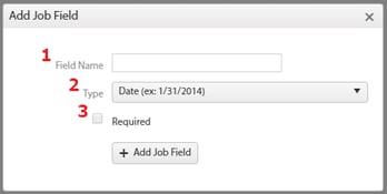 Jobs Add Custom Field