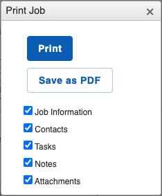 Jobs - Print Job