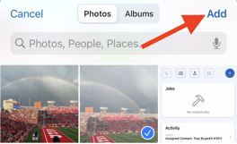 Mobile App - Contacts - Camera Roll Add Photo
