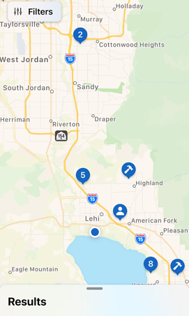 Mobile App - Contacts - Map