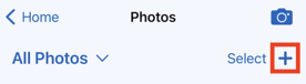 Mobile App - Contacts - Photo Gallery Add from Camera Roll