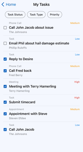 Mobile App - Tasks - How to view the Task List