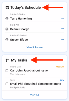 Mobile App - Tasks - Where to view your tasks