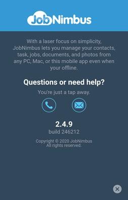 Mobile App Help Screen