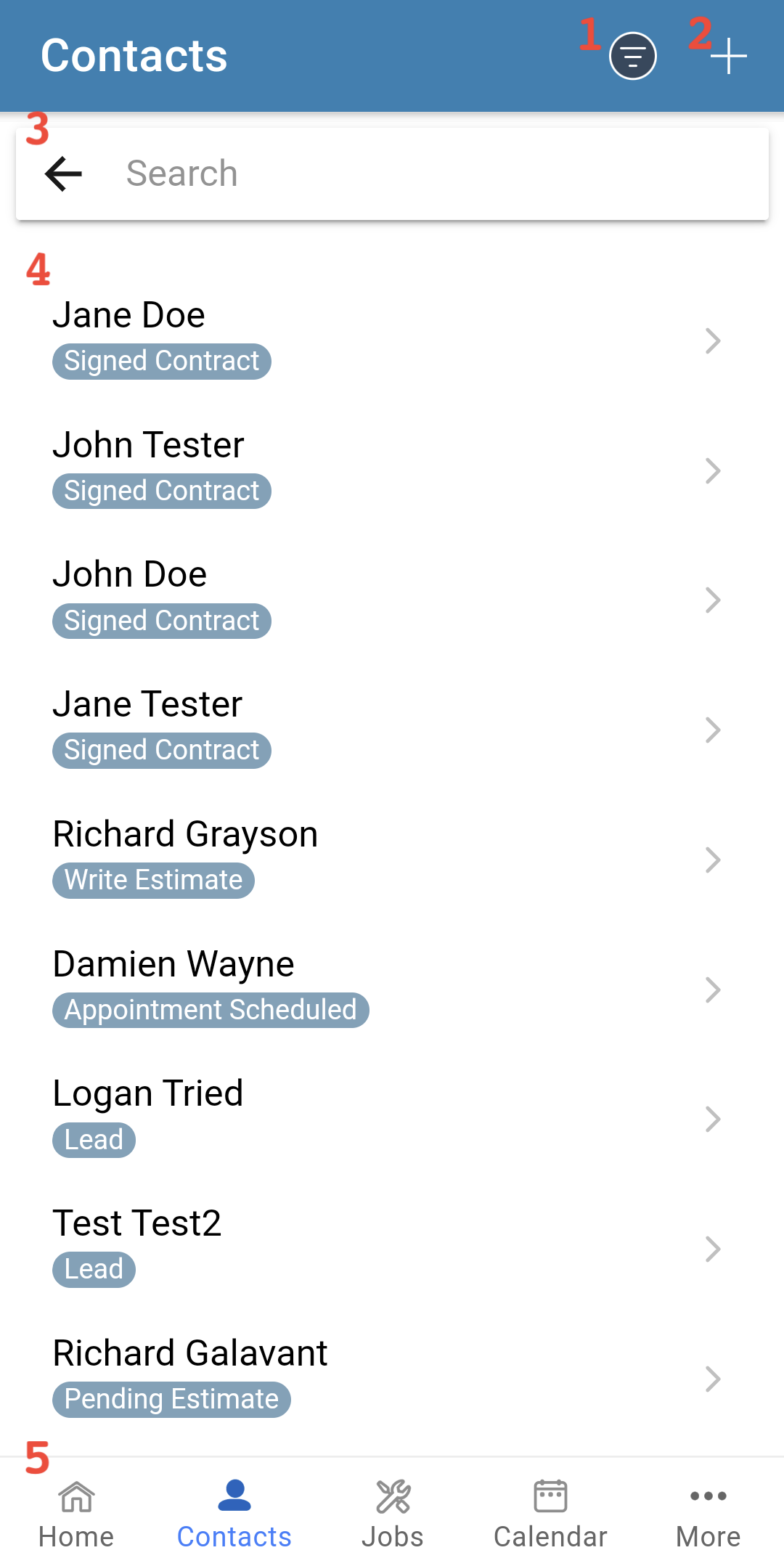 Mobile App - Contact List-1